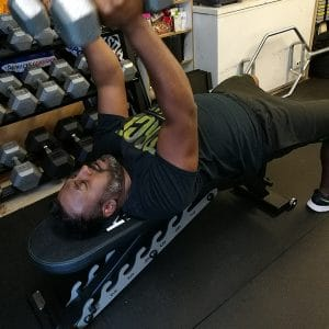 Trainee doing Chest fly